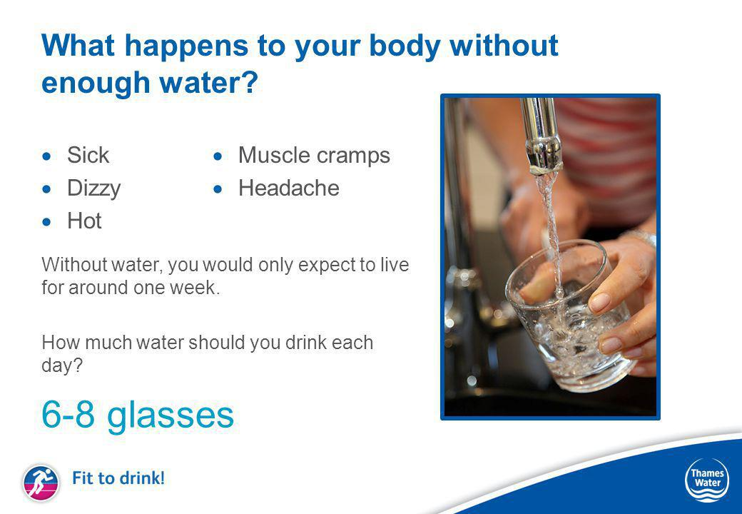 What happens to your body without enough water.