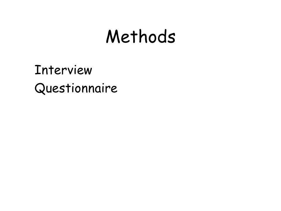 Methods Interview Questionnaire
