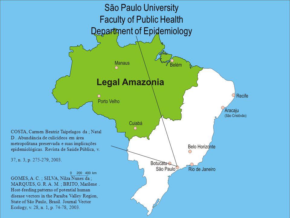 São Paulo University Faculty of Public Health Department of Epidemiology COSTA, Carmen Beatriz Taipelagos da ; Natal D.