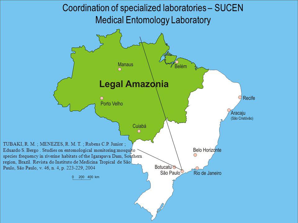 Coordination of specialized laboratories – SUCEN Medical Entomology Laboratory TUBAKI, R.