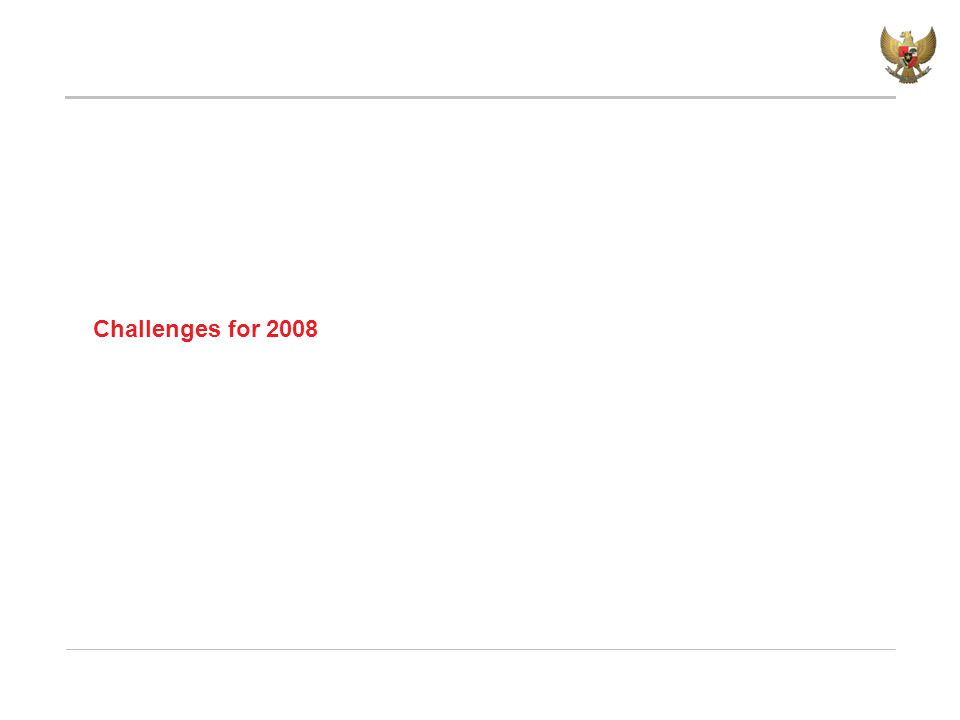 Challenges for 2008