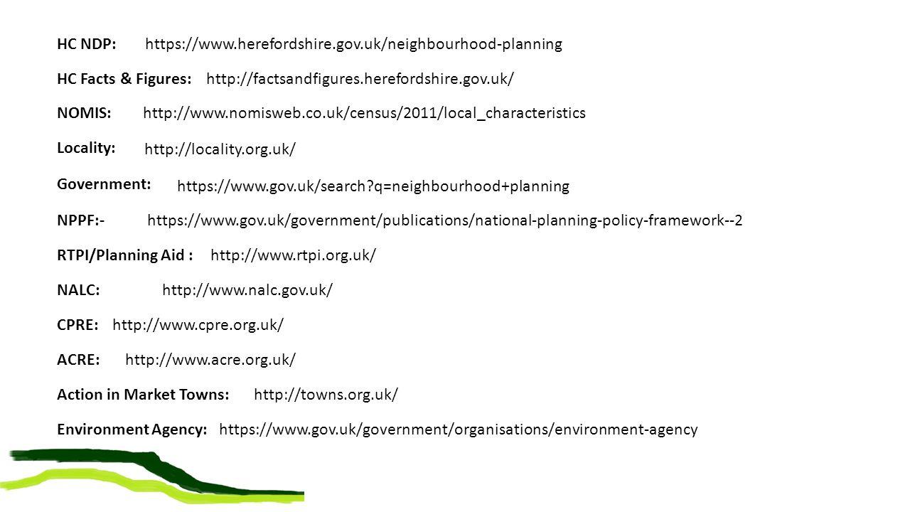 Environment Agency: https://www.gov.uk/government/organisations/environment-agency NPPF:- https://www.gov.uk/government/publications/national-planning