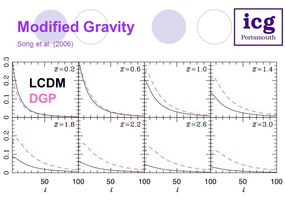 Modified Gravity LCDM DGP Song et al. (2006)
