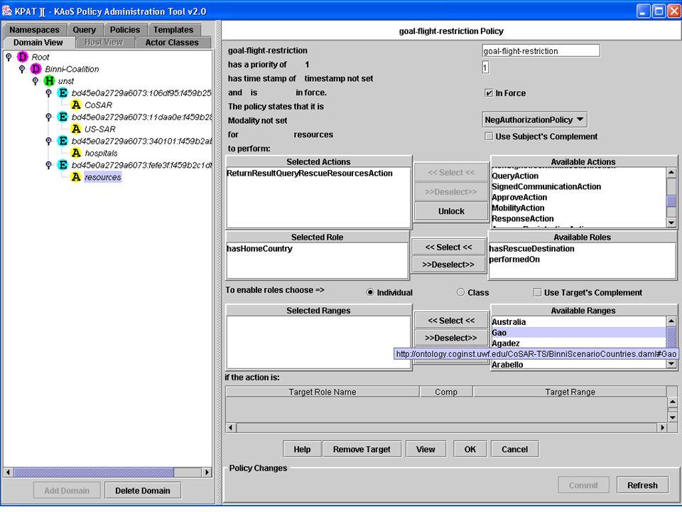 KAoS Policy Admin. Tool