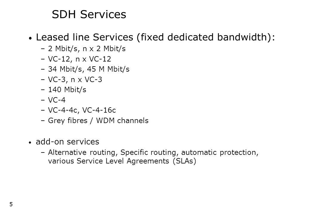 4 4 SDH Services
