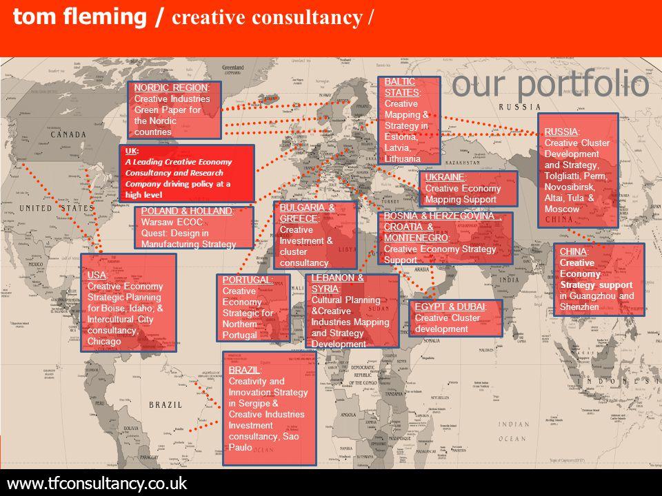 tom fleming / creative consultancy / Desenvolvi mento de um 'cluster' Das Industrias Creativas Na Regiao Norte