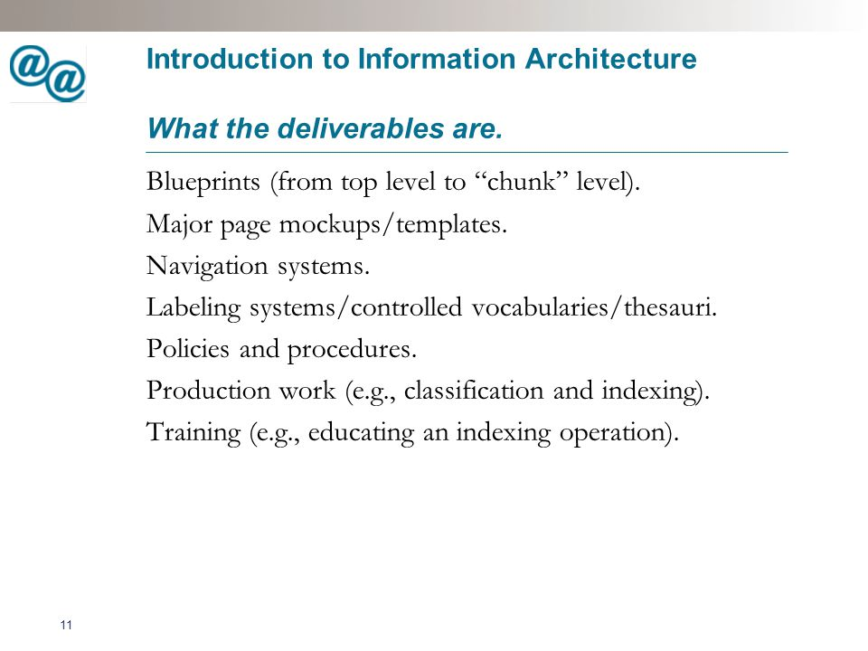 12 Introduction to Information Architecture Top-down vs.