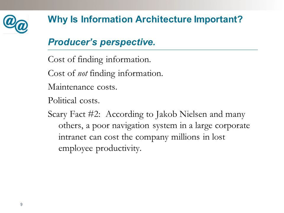 10 Introduction to Information Architecture Where it fits.
