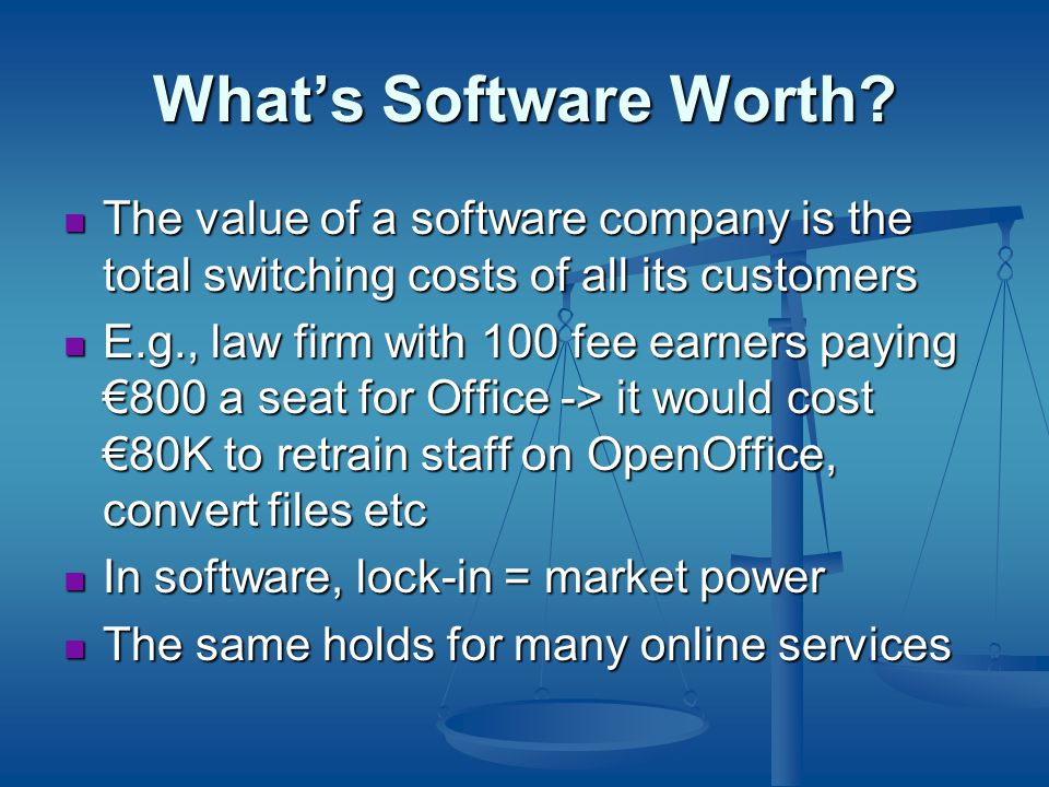 What's Software Worth.