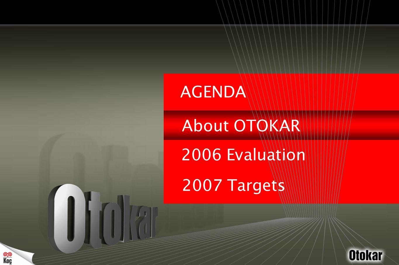'0 7 Otokar was founded as Turkey's first intercity bus manufacturer by Mr.İzzet Ünver '6 3 '7 0 '8 0 '8 7 '0 3 '0 2 In early 70's Koç Group became the major shareholder of Otokar taking over the management.