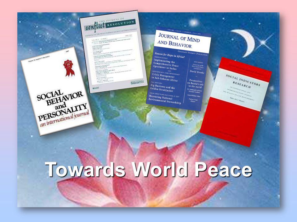 Towards World Peace
