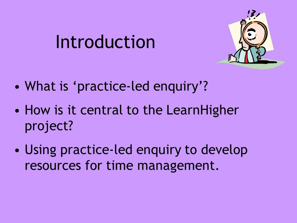 at Two learning areas - time management & report writing.