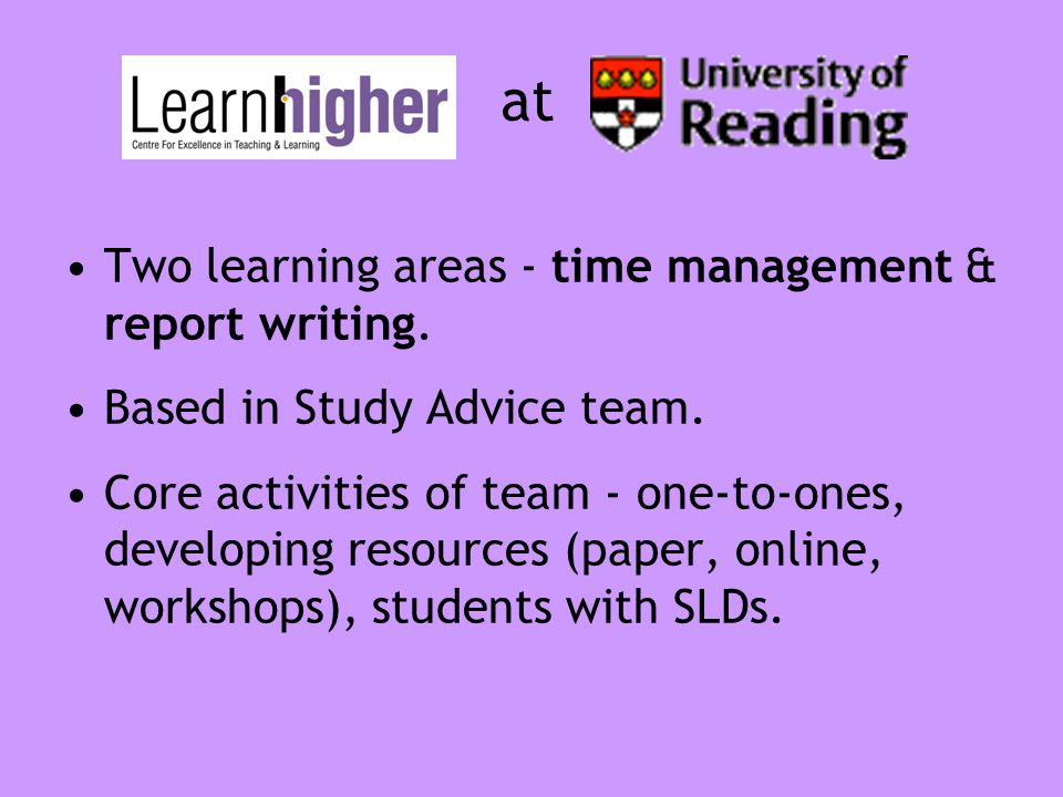 Applying a practice-led approach Four key areas: getting organised; planning time; effective study practices; motivation.