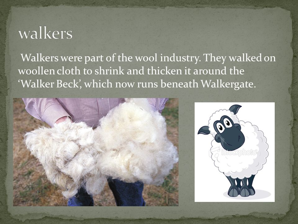 Walkers were part of the wool industry.