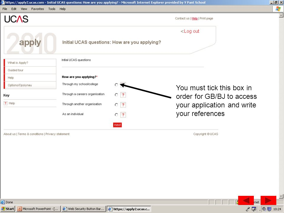 You must tick this box in order for GB/BJ to access your application and write your references