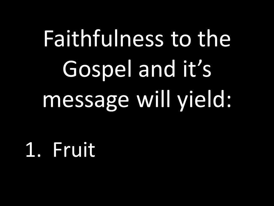 1. Fruit