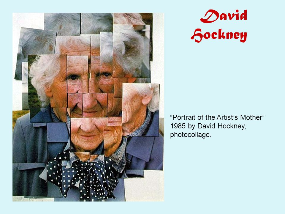 David Hockney Portrait of the Artist's Mother 1985 by David Hockney, photocollage.