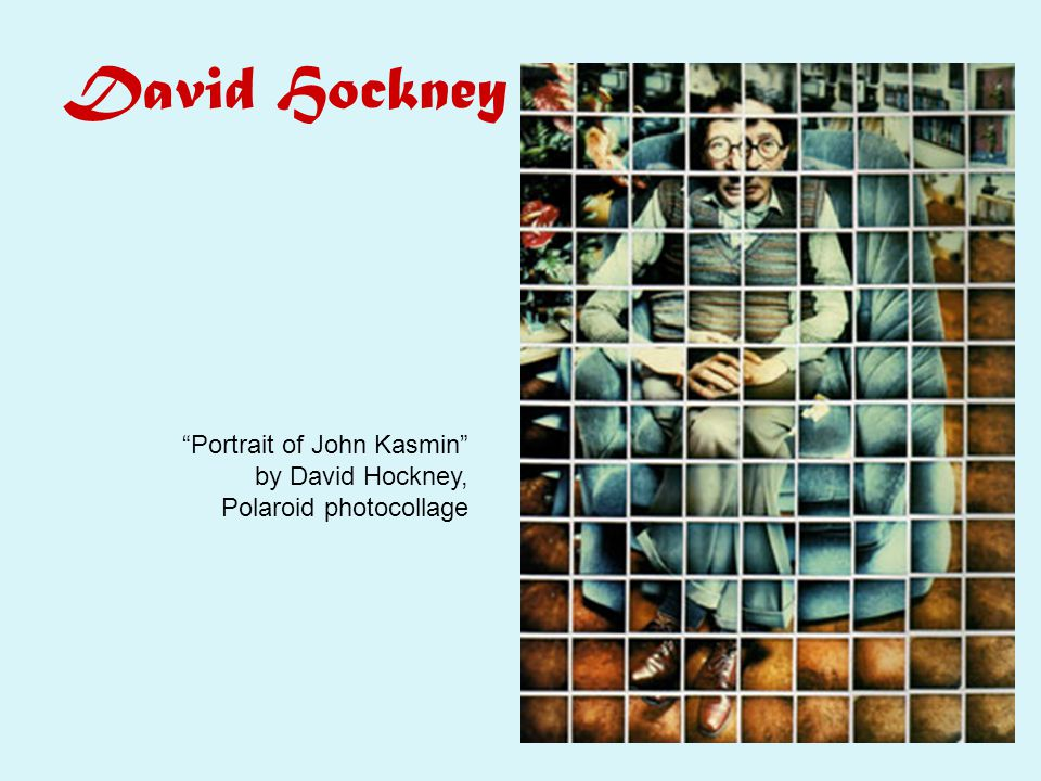 David Hockney Portrait of John Kasmin by David Hockney, Polaroid photocollage