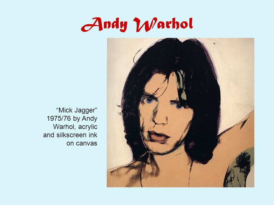 Andy Warhol Mick Jagger 1975/76 by Andy Warhol, acrylic and silkscreen ink on canvas