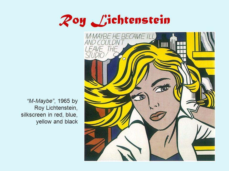 """Roy Lichtenstein """"M-Maybe"""", 1965 by Roy Lichtenstein, silkscreen in red, blue, yellow and black"""
