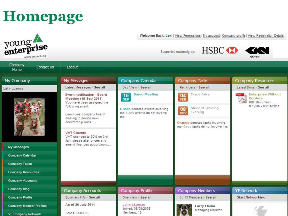 Main Menu Homepage