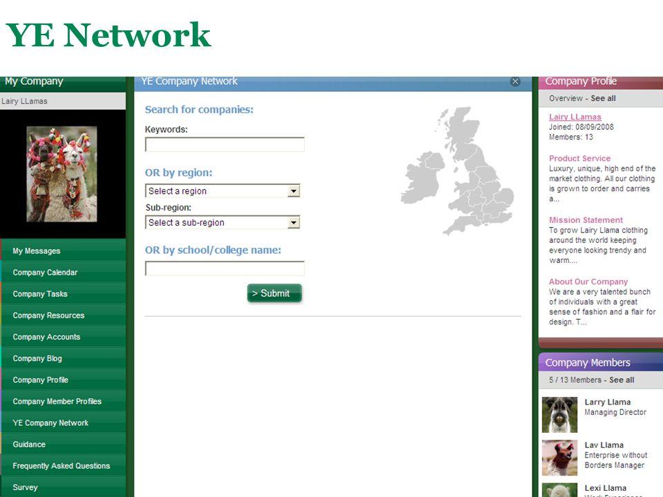 Main Menu YE Network