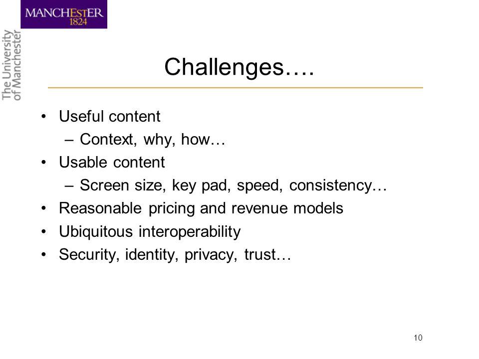 10 Challenges….