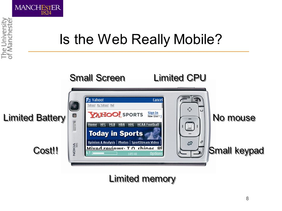 8 Is the Web Really Mobile.Small Screen Limited Battery Cost!.
