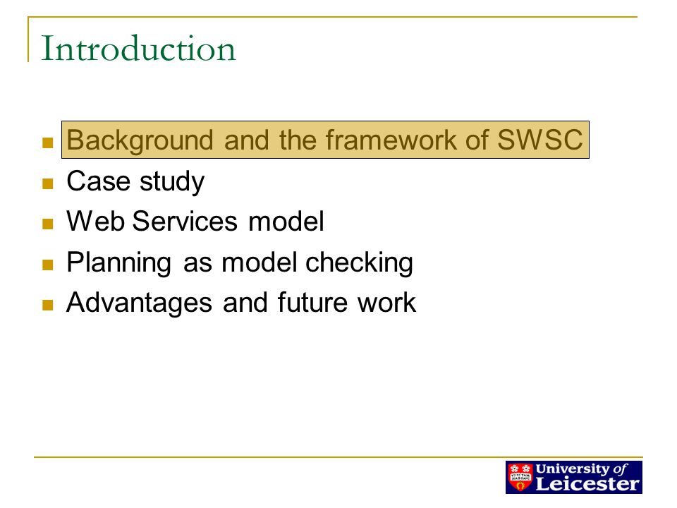 Background of SWS Syntax only! Web Service Architecture WS standards: Lack of semantics!