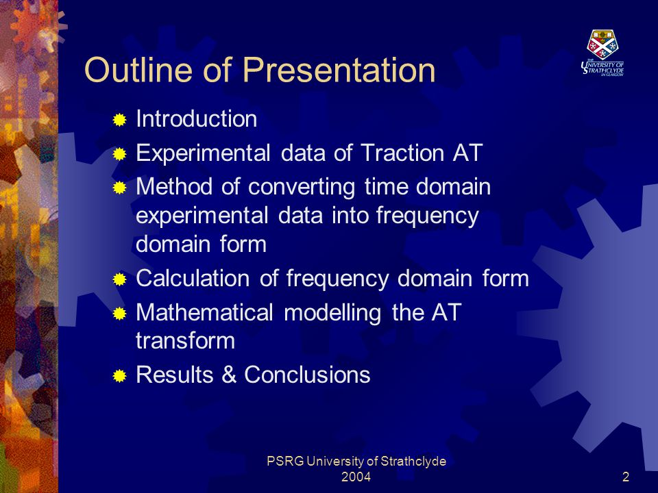 PSRG University of Strathclyde 200413 5.5.1 Local optimization  (1) Initial process  (2) Small offset modification  (3) Linear (Tangent) modification  (4) Parabola modification  (5) Least approaching for synthetic error of element  (6) Creation of the coefficient set