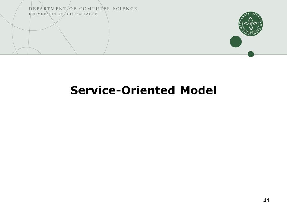 41 Service-Oriented Model