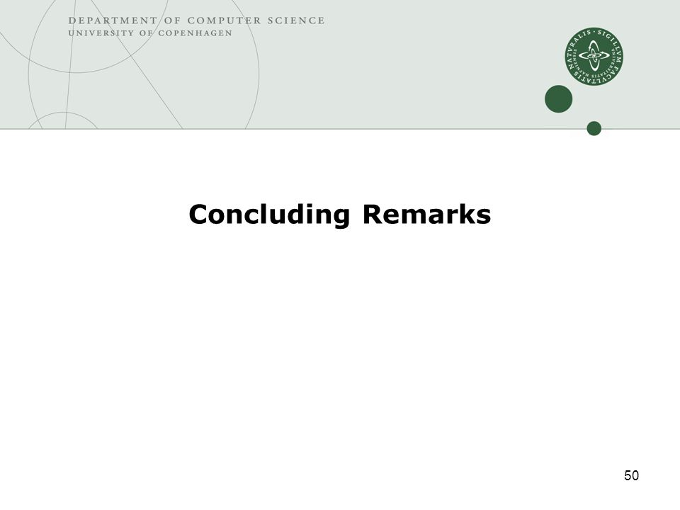 50 Concluding Remarks