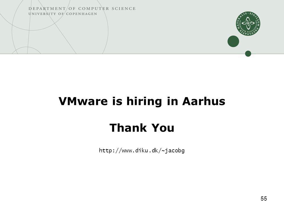 55 VMware is hiring in Aarhus Thank You http://www.diku.dk/~jacobg