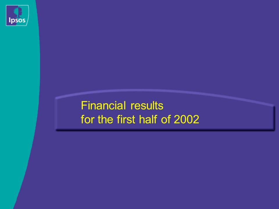 Financial results for the first half of 2002