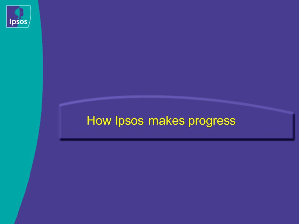How Ipsos makes progress