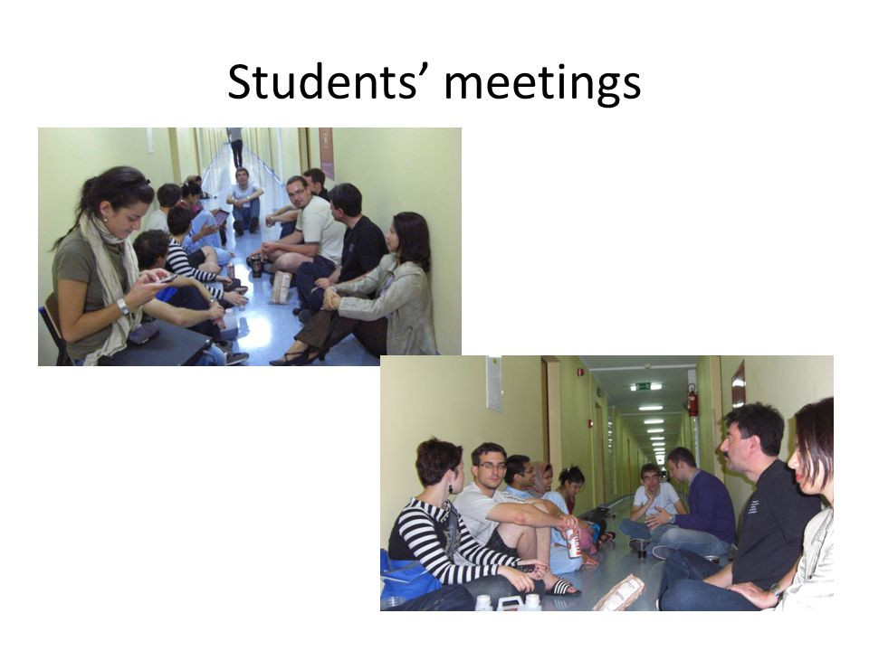 Students' meetings