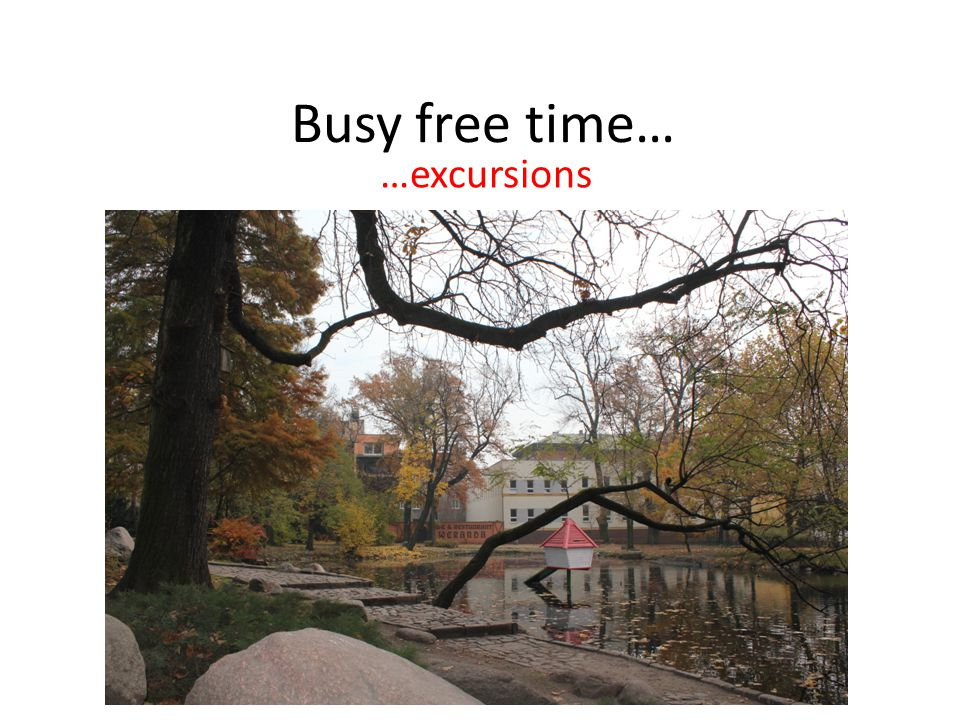 Busy free time… …excursions