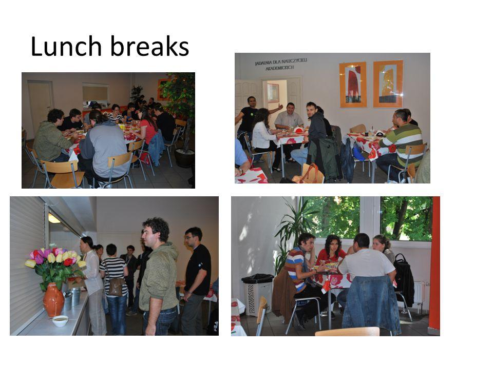 Lunch breaks