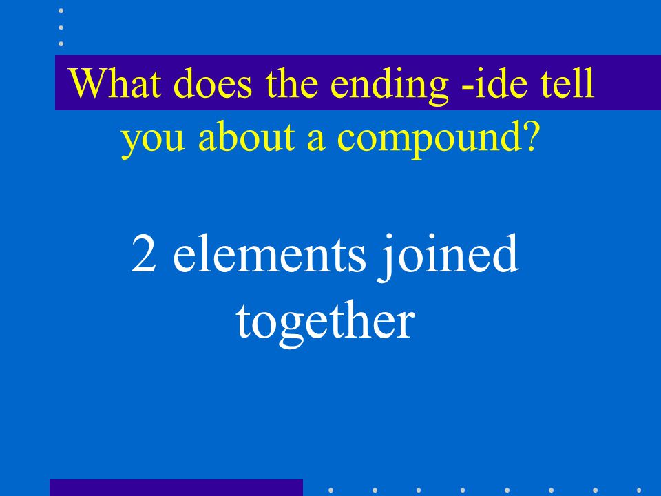 What does the ending -ate/ite indicate about a compound? Oxygen is present