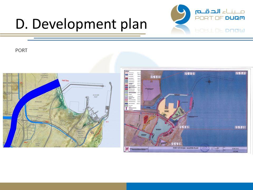 D. Development plan PORT