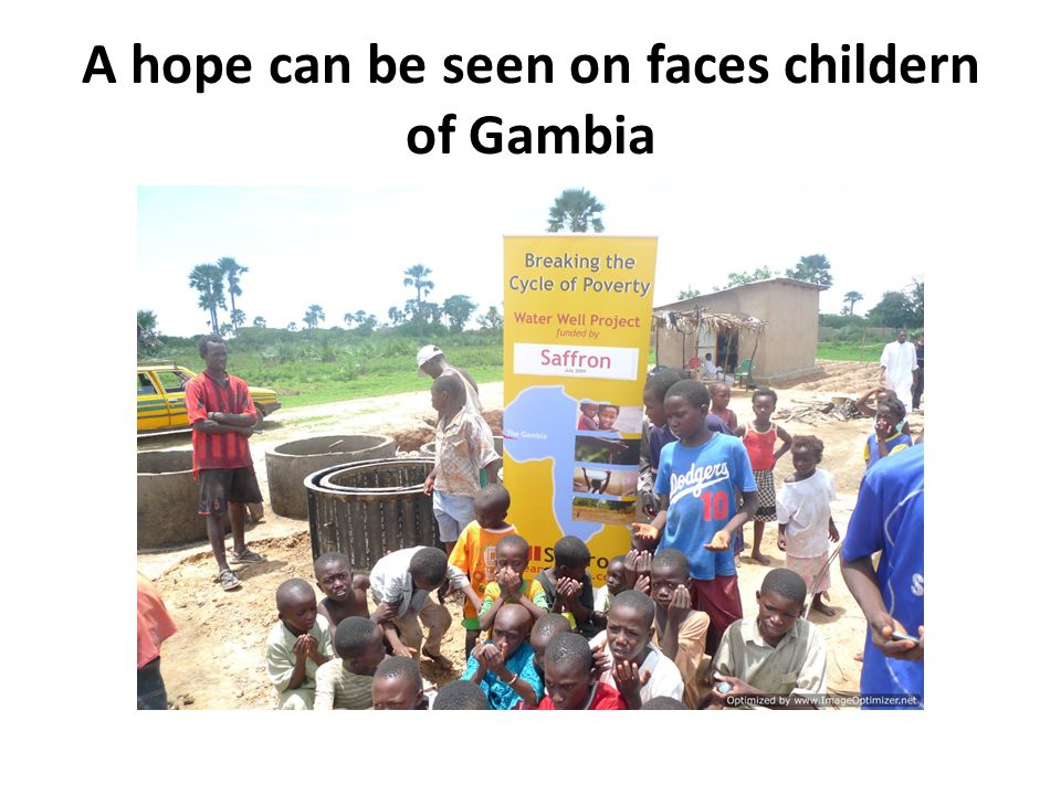 A hope can be seen on faces childern of Gambia