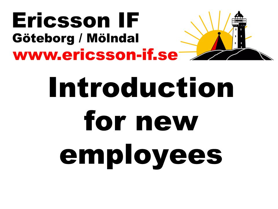 Introduction for new employees