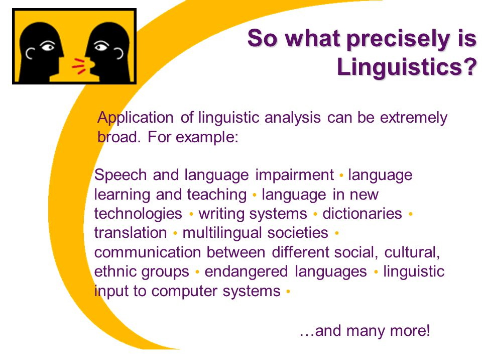 So what precisely is Linguistics.Linguistics.
