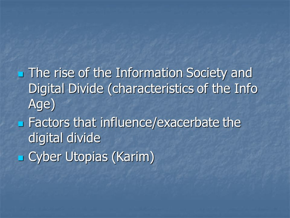 Utopia - Dystopia and New Media Technologies