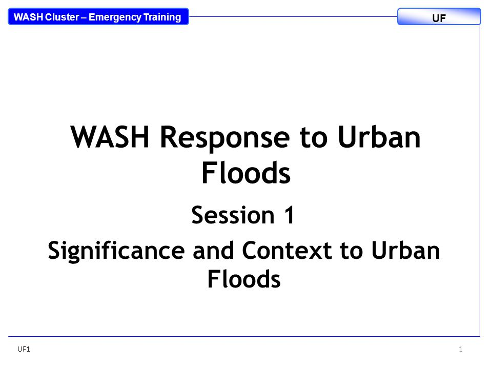 Brainstorm How is urban flooding different from rural flooding.