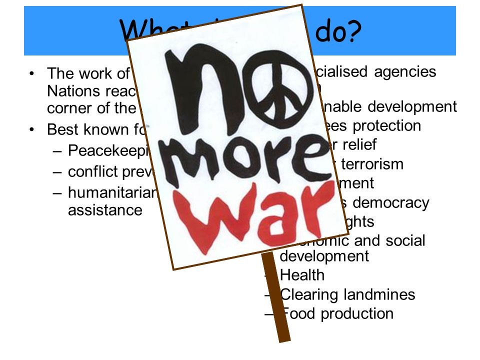 How does it work.The structure of the UN is based around its charter.