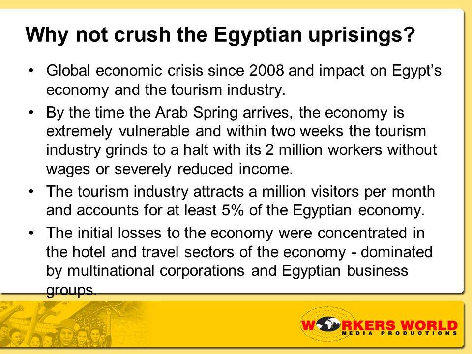 Why not crush the Egyptian uprisings.