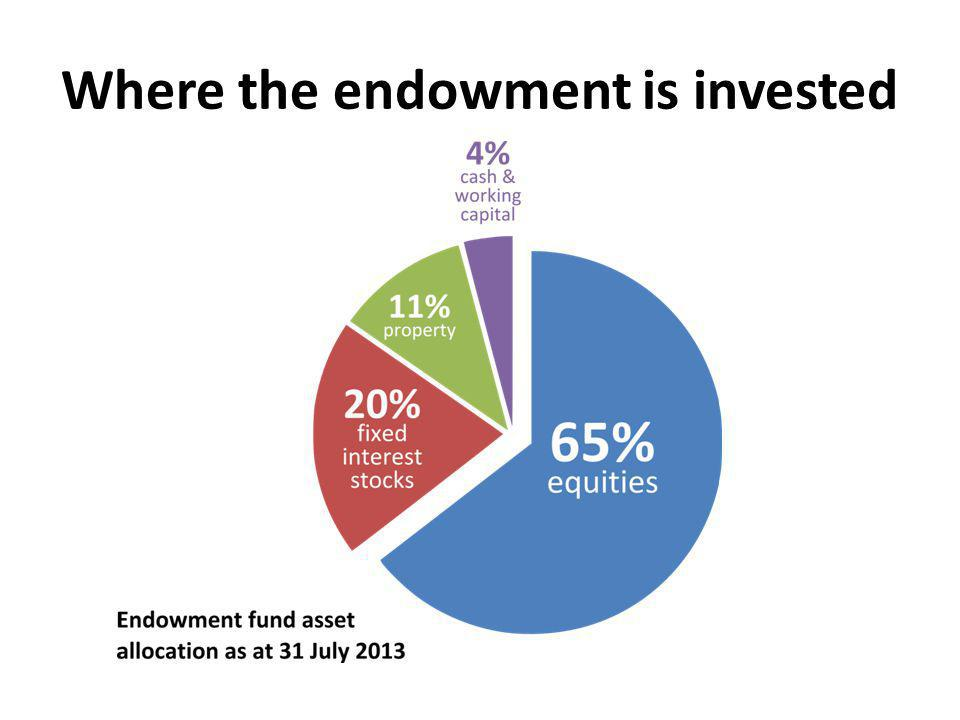 Where the endowment is invested