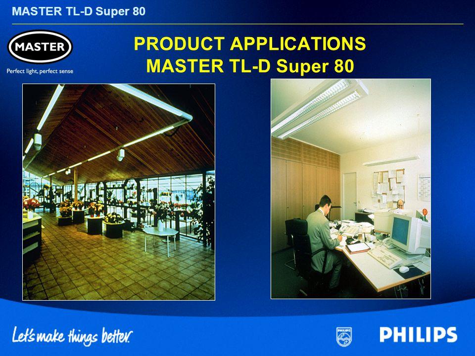 MASTER TL-D Super 80 PRODUCT APPLICATIONS MASTER TL-D Super 80