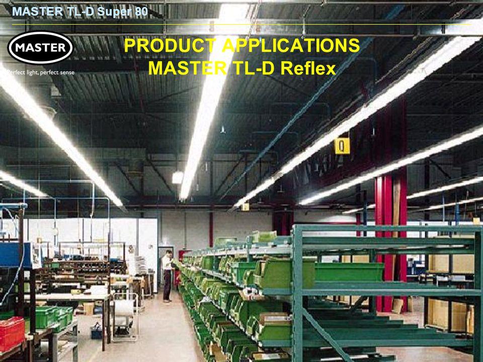 MASTER TL-D Super 80 PRODUCT APPLICATIONS MASTER TL-D Reflex